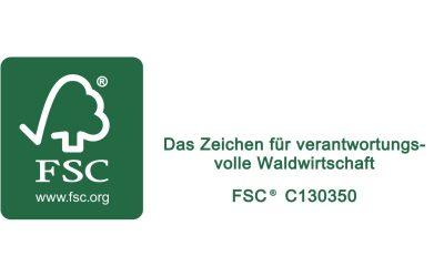 FSC – nachhaltige Waldwirtschaft für unsere Produkte
